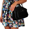 Женская замшевая сумка МIС 0704 черная 4