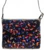 Женская сумка 35419 черная с цветным принтом 0