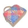 Женская сумка 35457 капучино с цветным принтом 4