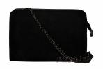 Жіноча сумка замшева 0663 чорна 0