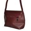 Женская кожаная сумка 2483 бордовая 3