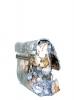Женская сумка 35301 синяя с цветным принтом 3