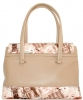 Жіноча сумка 35454 бежева з кольоровим принтом 7