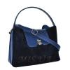 Женская замшевая сумка MIC 0703 синяя 1