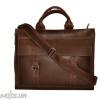 Мужской кожаный портфель 4252 коричневый однотонный 5