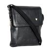 Мужская кожаная сумка Vesson  4126 черная 2
