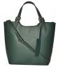 Женская кожаная сумка 19219 зеленая 4