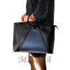 Жіноча сумка 35601 чорна - комбінована 5