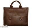 Мужской кожаный портфель 4252 коричневый однотонный 0
