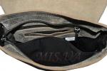 Чоловіча шкіряна сумка 4259 сіра хакі 5