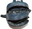 Кожаный рюкзак 4342 темно-синий 2
