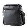 Мужская кожаная сумка Vesson  4571 черная 4