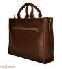 Мужской кожаный портфель 4252 коричневый однотонный 3