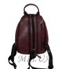 Женский кожаный сумка-рюкзак 2596 бордовый 2