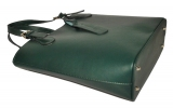 Женская кожаная сумка 19219 зеленая 3