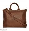 Мужской кожаный портфель 4254 коричневый 2