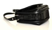 Женская сумка 35441 черная с тиснением 5