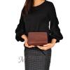 Женская кожаная сумочка МІС 2435 бордовый металик 5