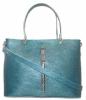 Женская сумка 2521 синяя металик 2