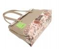 Жіноча сумка 35454 бежева з кольоровим принтом 0