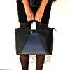 Жіноча сумка 35601 чорна - комбінована 6
