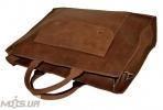 Мужской кожаный портфель 4254 коричневый 5