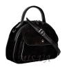 Женская замшевая сумка МIС 0704 черная 1