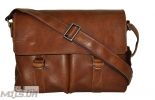 Мужской портфель 4226  рыжий матовой 0
