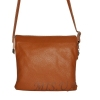 Женская кожаная сумка 2486 рыжая 0