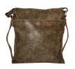 Чоловіча шкіряна сумка 4259 сіра хакі 3