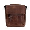 Мужская кожаная сумка Vesson 4639 коричневая 0