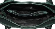 Женская кожаная сумка 19219 зеленая 6