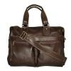 Мужской кожаный портфель 4369 коричневый 2