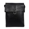 Мужская кожаная сумка Vesson 4621 черная  0