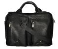 Мужской кожаный портфель-сумка 4368 черный 7