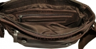 Мужская кожаная сумка 4508 коричневая 5