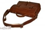 Мужской кожаный портфель 4227 рыжий 4