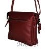 Женская кожаная сумка 2486 бордовая 3