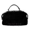Жіноча замшева сумка МІС 0697 чорна 0