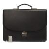 Мужской кожаный портфель 472 черный 0