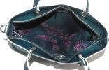 Женская сумка 2521 синяя металик 6