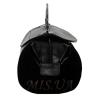 Женская замшевая сумка MIC 0701 черная 3