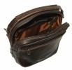 Мужская кожаная сумка 4348 коричневая  5