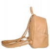Leather backpack 2517 beige 3