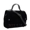 Женская замшевая сумка МІС 0726 черная 2
