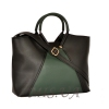 Women's bag 35601 black with green 2