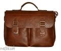 Мужской кожаный портфель 4227 рыжий 0