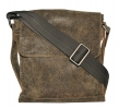 Чоловіча шкіряна сумка 4259 сіра хакі 4