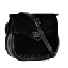 Женская замшевая сумка МІС 0711 черная 2