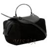 Женская замшевая сумка MIC 0701 черная 2